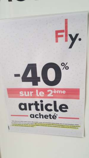 40% de réduction sur le 2ème article acheté