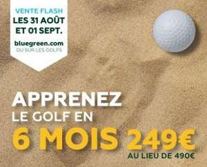 Passeport débutant carte verte Golf BlueGreen - 6 Mois