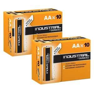 Lot de 20 piles LR6 AA Duracell Industrial (1.5V, 2.7Ah)