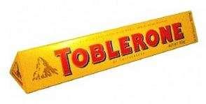 2 tablettes de chocolat au lait Toblerone - 2x100g