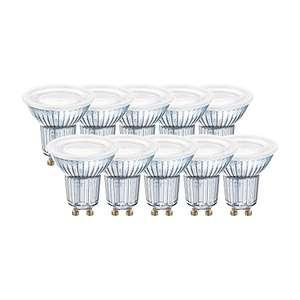 Lot de 10 Spots LED Osram 4058075043084 Blanc Chaud 2700K (GU10) - 6,9W