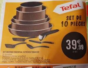 Batterie de Cuisine Tefal Ingenio Essential (Tous feux sauf induction) - 10 Pièces
