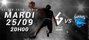 Place pour le Match de basketball LDLC Aavel VS Antibes le  Mardi 25 septembre 20h (inférieur sud)