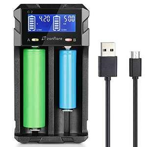 Chargeur de piles intelligent Zanflare C2 avec écran LCD (vendeur tiers)