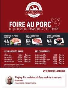 Foire au porc: Sélection de produits en promotion - Ex: Le Kilo de saucisse