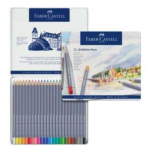Sélection de produits d'arts créatifs en promotion - Ex : boîte de 24 crayons de couleur aquarellable Faber-Castell GoldFaber Aqua