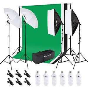Kit éclairage Craphy - Fond, Softbox, Parapluie, Kit Eclairage, Amploules (vendeur tiers)