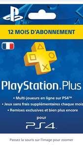 Abonnement 12 Mois au PlayStation Plus - PSN - PS4