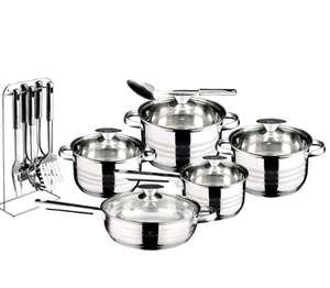 Batterie de cuisine Blaumann en acier inoxydable Master Chef - 17 pièces