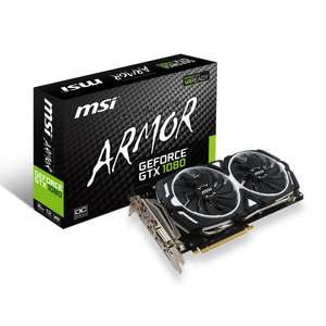 Carte graphique MSI GeForce GTX 1080 Armor 8g oc 8Go DDR5
