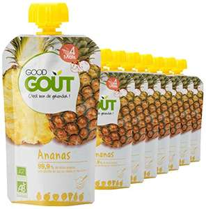 8x120g de Purée de Fruits Bio Good Goût à l'Ananas