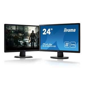 "Pack 2 Écrans PC 24"" Iiyama ProLite E2483HS-B3"