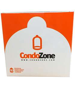 Lot de 3 boîtes de 10 préservatifs CondoZone - 3x10
