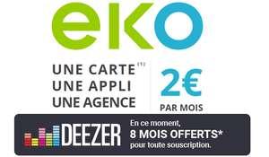8 mois d'abonnement Deezer Premium offerts pour toute souscription à l'offre EKO (2€ / mois sans engagement)