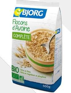 Sélection de produits en promotion - Ex : 1 Paquet de 500gr de flocon d'avoine bio complète Bjorg (remise immédiate + BDR)