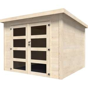 Abri de jardin en bois Kuta Axess - 5.96 m², Ep.28 mm