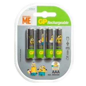 Lot de 4 piles rechargeables AAA Ni-MH ReCyko Minion - 850mAh (Nkon.nl)
