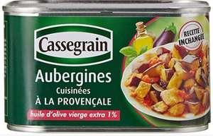 Distribution gratuite de petites boites de Conserve cassegrain aubergines cuisiniees à la provençale - Paris (75)