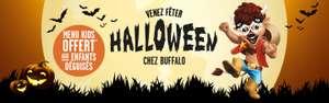 Menu Kids offerts aux enfants déguisés lors d'Halloween pour l'achat d'un plat ou d'un menu Adulte