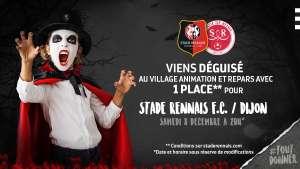 Billet pour le match de foot Stade Rennais FC / Dijon - le 28/10 (15 h), offert à toute personne déguisée au Village Animations (35)