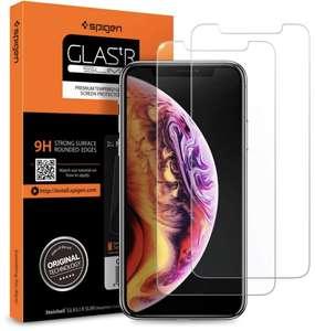 Lot de 2 verres trempés Spigen pour iPhone XR (vendeur tiers) - Frais de port inclus. (Gratuit pour les Primes)