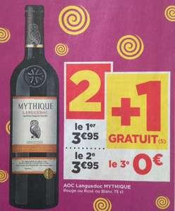 Lot de 3 Bouteilles de Vin AOC Languedoc Mythique (Variétés au choix) - 3 x 75cl