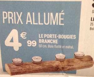 Porte-bougies Branche en Bois Flotté - 50cm