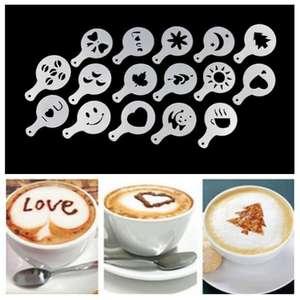 16 pochoirs pour décorer vos cafés (Livraison comprise)
