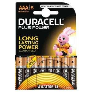 [Cdiscount à volonté] Packs de 8 Piles Duracell Plus Power LR03 - AAA