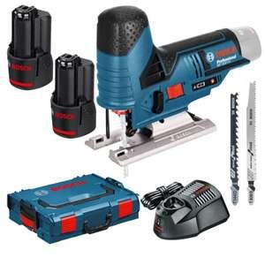 Kit Scie Sauteuse Bosch Professionnel GST 10.8V-Li / GST 12V-70 + chargeur + 2 lames + 2 batteries 2Ah