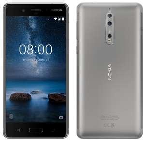 """[Cdiscount à volonté] Smartphone 5.3"""" Nokia 8 (Gris) - QHD+, Snapdragon 835, RAM 4 Go, ROM 64 Go"""