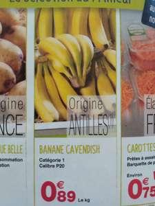 Banane Cavendish catégorie 1 - Le Kg (Origine Antilles)