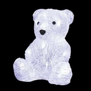 Ours lumineux Paulo Blanc froid 16 LED
