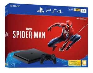 [Adhérents] Pack console Sony PS4 (1 To) + 2ème manette DualShock 4 (Noir) + Marvel's Spider-Man