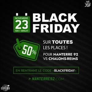50% de réduction sur les billets pour le match Nanterre 92 - Chalons Reims