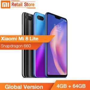 "Smartphone Mi 8 lite 6,26"" Global (B20 et B28) 64GB Version Noir"