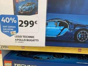 Jeu de Construction LEGO Technic - Bugatti Chiron - 42083 - Via 119.60€ sur la Carte fidélité (Frontaliers Luxembourg)