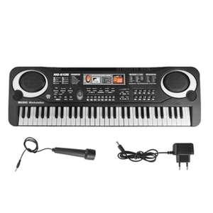 Mini piano électronique avec microphone - 61 touches