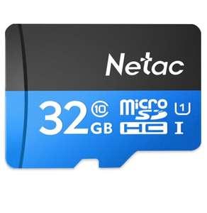 Carte Mémoire Flash Micro SDHC Haute Vitesse Netac P500 32GB