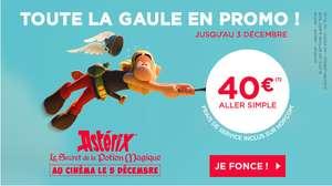 Selections de vols (Aller simple) dans toute la France (39 destinations) du 7 janvier au 24 mars.