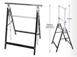 Tréteau en acier Réglable en Hauteur et pliable - Charge max 200 kg