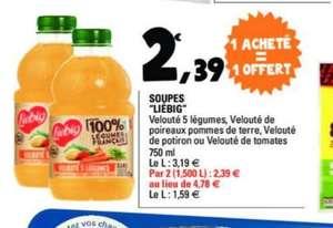 2 bouteilles de soupe Liebig - 75cl (via Flashcode)