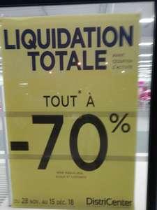 70% de réduction sur tout le Magasin DistriCenter - Castres (81)