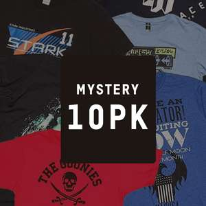 Lot de 10 T-Shirts Geek Mystère - Edition Black Friday