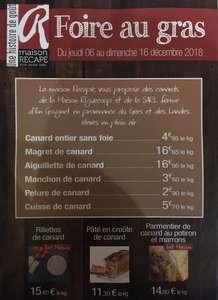Sélection de produits Maison Recapé en promotion - Ex : cuisse de canard (le kg)