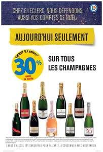 30% remboursés en bon d'achat de réduction sur les champagnes (via carte fidélité)