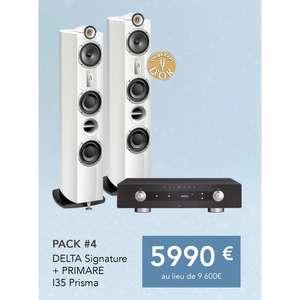 Pack paire d'enceinte colonne Triangle Signature Delta + Amplificateur audio Primare I35 Prisma