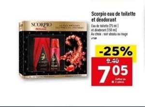 Coffret Scorpio eau de toilette et déodorant