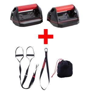 Poignées de pompes Cross Training + sangle de suspension Strap Training 100