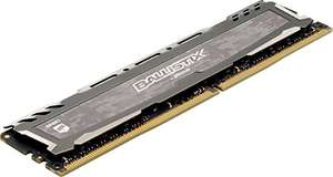Ballistix Sport LT BLS2C16G4D240FSB 32Go Kit (16Gox2) (DDR4, 2400 MT/s, PC4-19200, DR x8, DIMM, 288-Pin) Mémoire - Gris